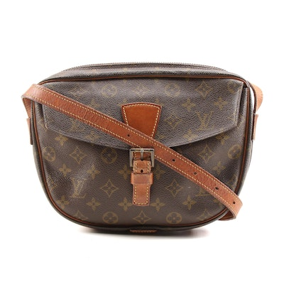 Louis Vuitton Jeune Fille MM Bag in Monogram Canvas and Leather, Vintage