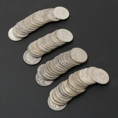 Walking Liberty, Kennedy, and Franklin Silver Half Dollars