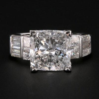 14K White Gold 5.29 CTW Diamond Ring