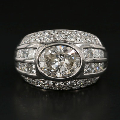 Leuyan 18K White Gold 5.05 CTW Diamond Ring