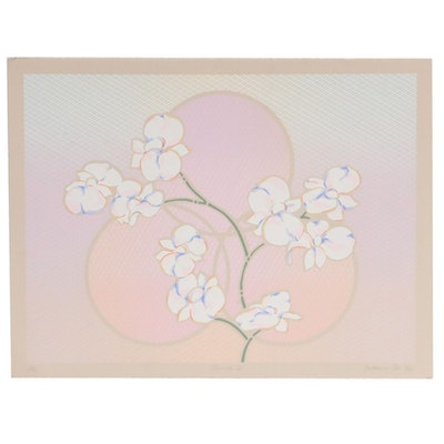 "Katherine Cox Serigraph ""Orchids I,"" 1983"