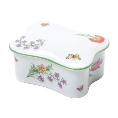 "Tiffany & Co. ""Tiffany Garden"" Limoges Porcelain Trinket Box"