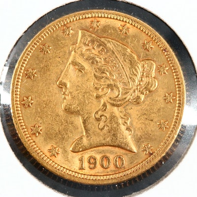 1900 Liberty Head $5 Gold Coin