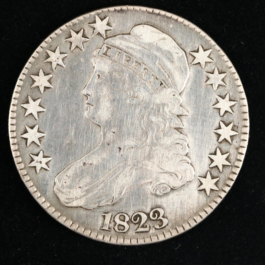 1823 Capped Bust Silver Half Dollar