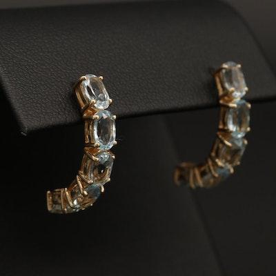 10K Yellow Gold Topaz Earrings