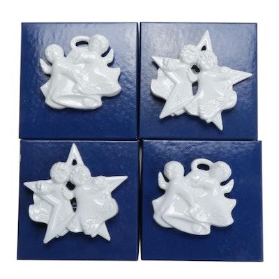 Haviland White Ceramic Cherub Ornaments