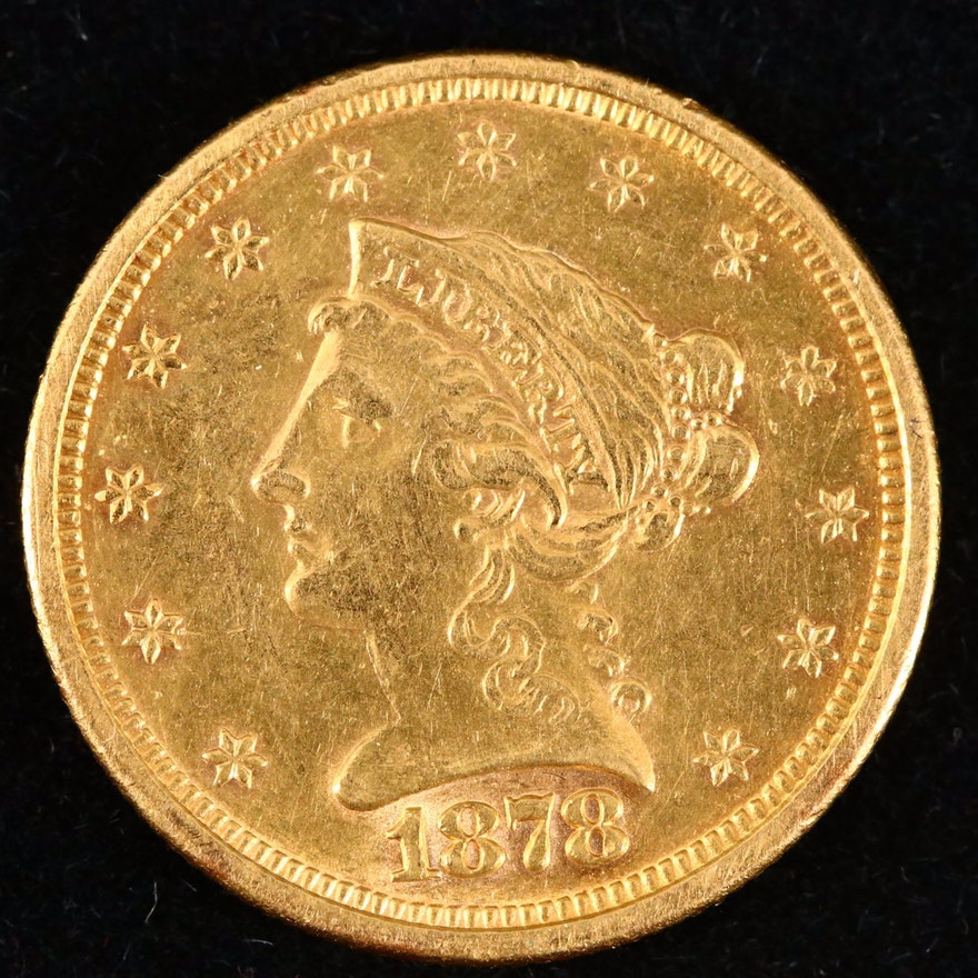 1878-S Liberty Head $2.50 Gold Quarter Eagle