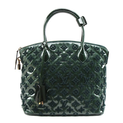 Louis Vuitton Limited Edition Green Monogram Fascination Lockit Bag