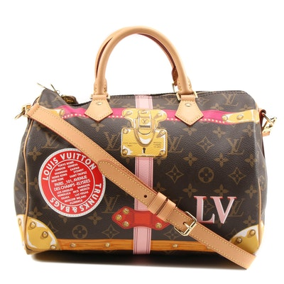 Louis Vuitton 2018 Summer Trunk Collection Monogram Canvas Speedy Bandouliere 30
