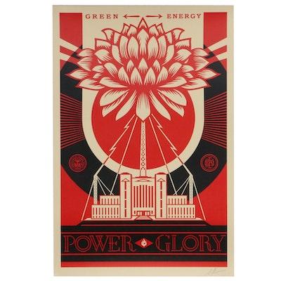 """Shepard Fairey Offset Poster """"Green Power,"""" 2019"""