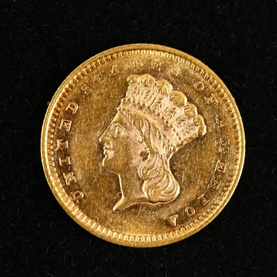 1858 Indian Princess Head Type III Gold Dollar