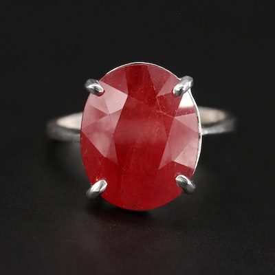 Sterling Silver Corundum Ring