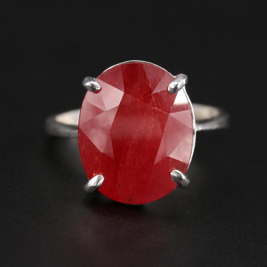 Sterling Silver Corundum Ring