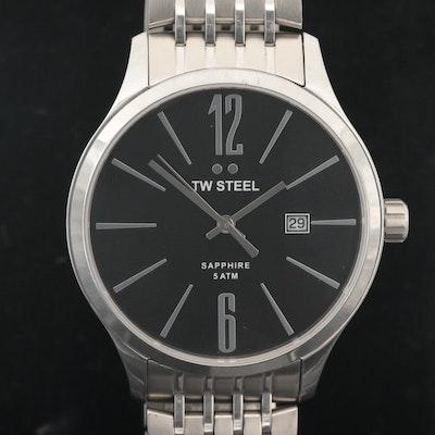 TW Steel Slim Line Stainless Steel Quartz Wristwatch
