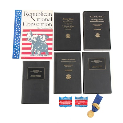 Memorial Tributes of Government Notables with Republican Convention Memorabilia
