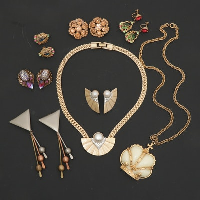 Vintage Costume Jewelry Including Park Lane and Florenza