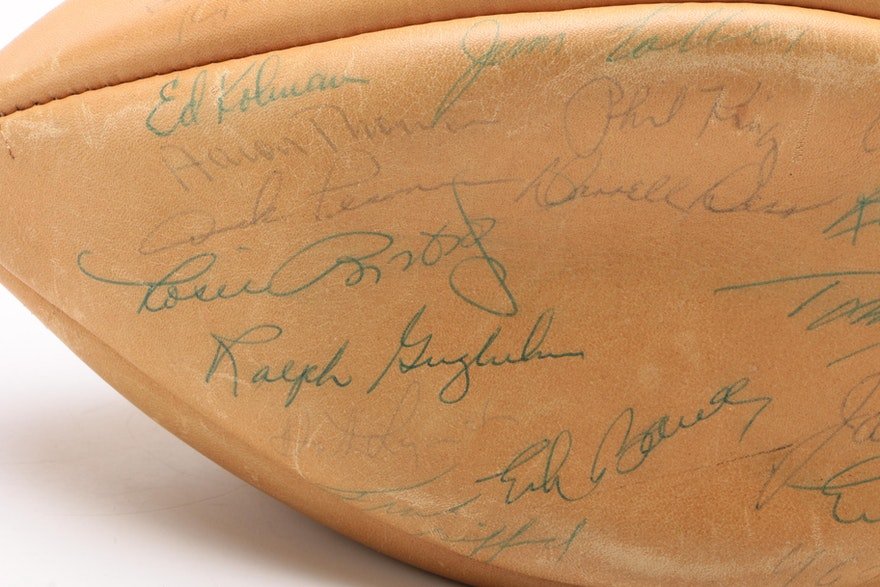 New York Giants Signed Football, Early 1960s