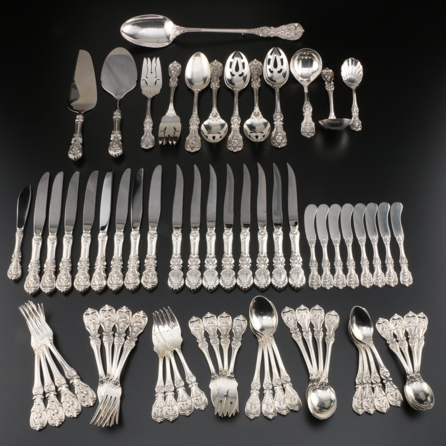 "Reed & Barton ""Francis I"" Sterling Flatware Service for Eight, Mid-Century"