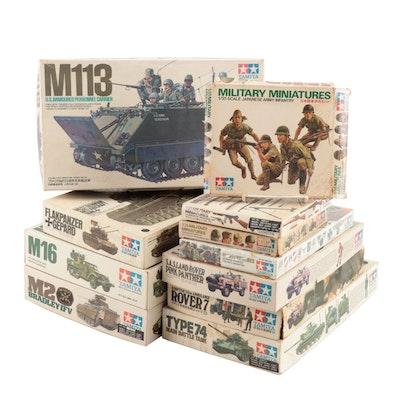 Tamiya Military Plastic Model Building Kits Including Bradley IFV Tank