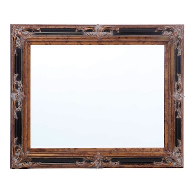 Baroque Style Framed Beveled Mirror, Late 20th Century