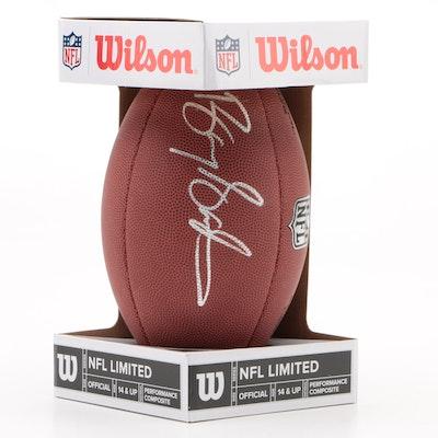 Barry Sanders Signed Wilson NFL Football  COA