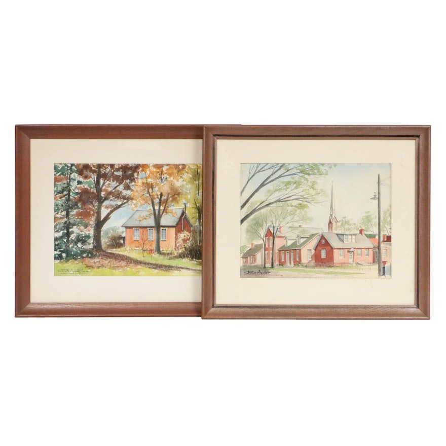 Bill Arter Architectural Watercolor Paintings
