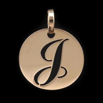 "14K Yellow Gold ""J"" Pendant"