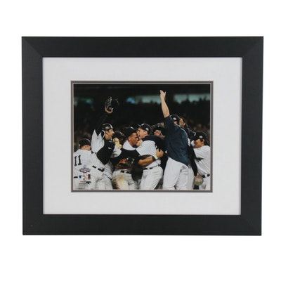 Framed 2009 New York Yankees World Series Field Celebration Photo Print