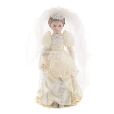 "21"" Madame Alexander ""Bride"" Porcelain Doll, Limited Edition, 1989"