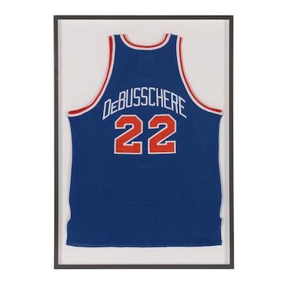 Framed Dave DeBusschere New York Knicks Replica Jersey