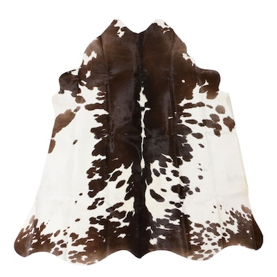 4'2 x 4'6 Cowhide Accent Rug
