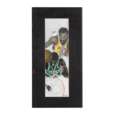 Mixed Media Artwork Featuring Chamberlain and Frazier