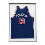 Framed Wilt Chamberlain Replica Jersey