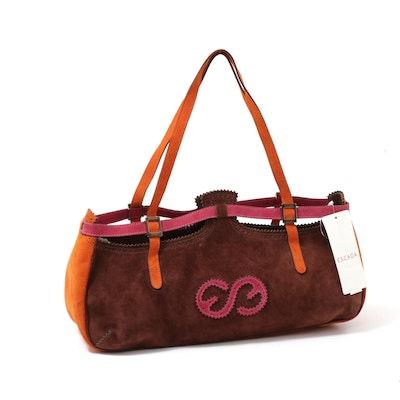 Escada Sport Multicolored Suede Shoulder Bag