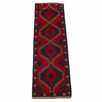 2'2 x 7'0 Hand-Knotted Afghani Baluch Runner