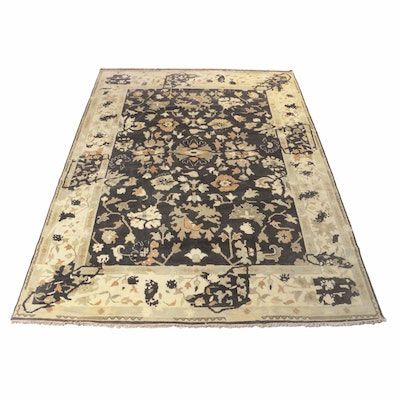 9' x 11'11 Hand-Knotted Indo-Turkish Oushak Rug