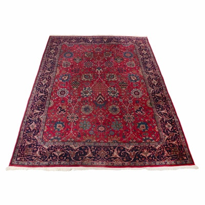 8'8 x 11'11 Hand-Knotted Turkish Oushak Rug, 1920s