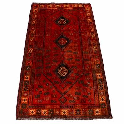 5'2 x 9'8 Hand-Knotted Persian Qashqai Shiraz Rug, 1940s