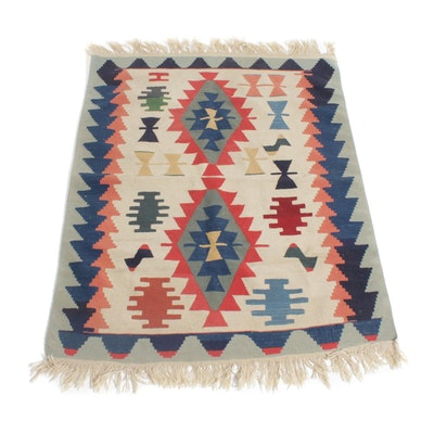 4' x 5'4 Handwoven Turkish Kilim Rug