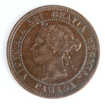 1891 Canada One Cent Coin