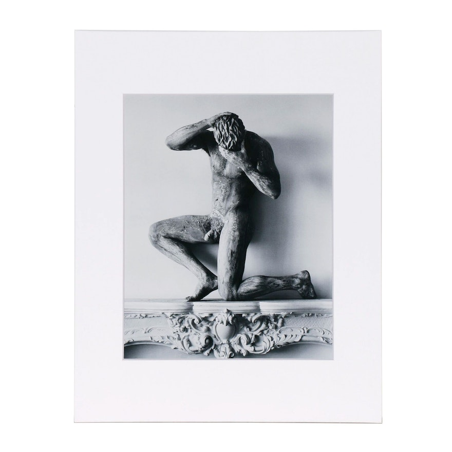 "Publisher Copy Digital Photograph after Herb Ritts ""Statue of Clay ..."", 1980s"