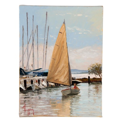Marco Antonio Vazquez Oil Painting of Sailboat