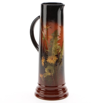 "Weller ""Louwelsa"" Ceramic Pitcher Vase, Early 20th Century"