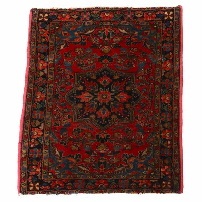 2'2 x 2'8 Hand-Knotted Persian Sarouk Accent rug, 1920s
