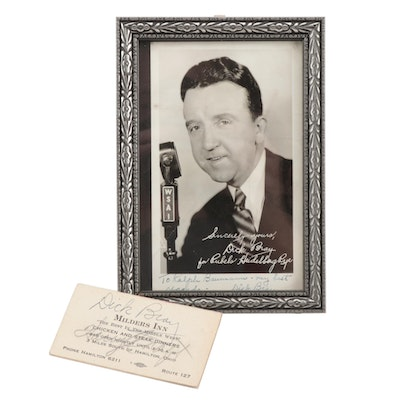 Dick Bray, Harry Craft and Ival Goodman Signed Items, circa 1940.