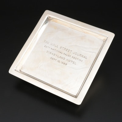 "Tiffany & Co. Sterling Silver ""Wall Street Journal"" Commemorative Tray"