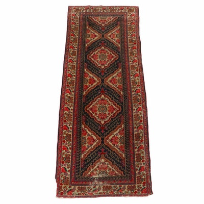 2'11 x 7'6 Hand-Knotted Persian Malayer Carpet Runner, 1920s
