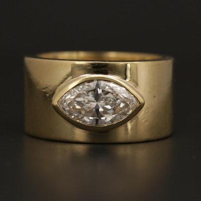 18K Yellow Gold 1.53 CT Diamond Ring