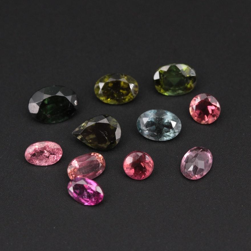 Loose 7.91 CTW Tourmaline Gemstones