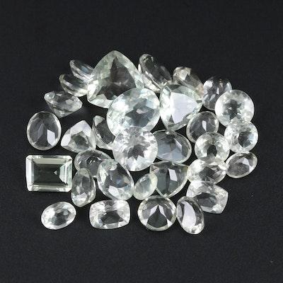 Loose 51.43 CTW Prasiolite Gemstones